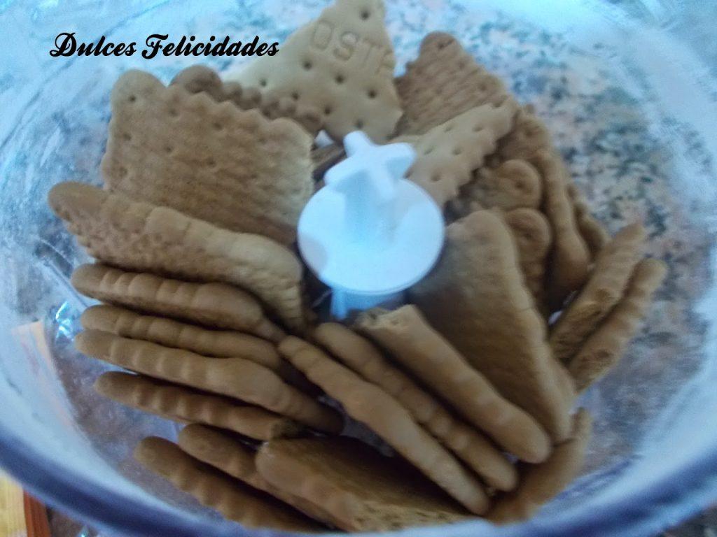 Bizcocho de galletas maría