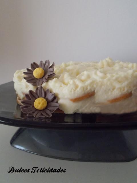 Tarta de galletas maría y crema de limón
