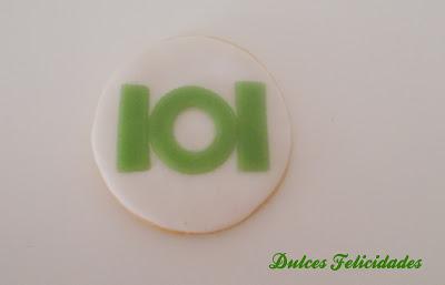 Galletas Green Lantern fondant