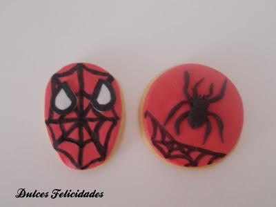 Galletas Spiderman Fondant