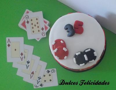 Tarta fondant Poker