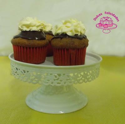 Cupcakes de fresa, chocolate y buttercream