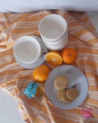 Galletas de miel y naranja