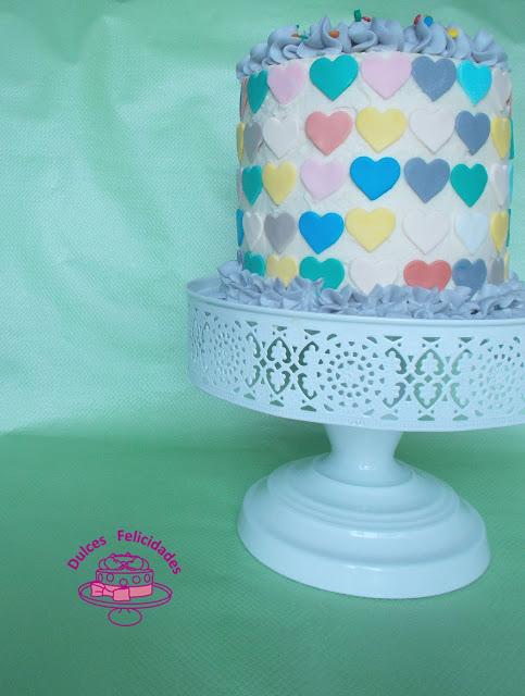 Layer cake de corazones