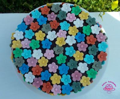 Tarta de florecitas