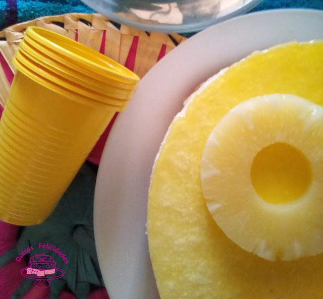 Cheesecake de piña sin horno