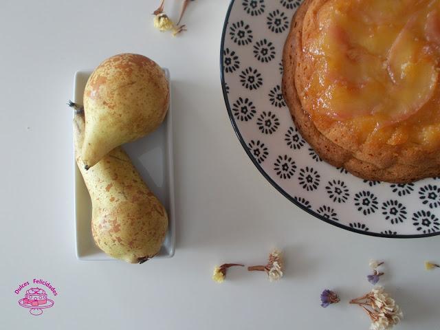 Tarta de queso y pera muy fácil