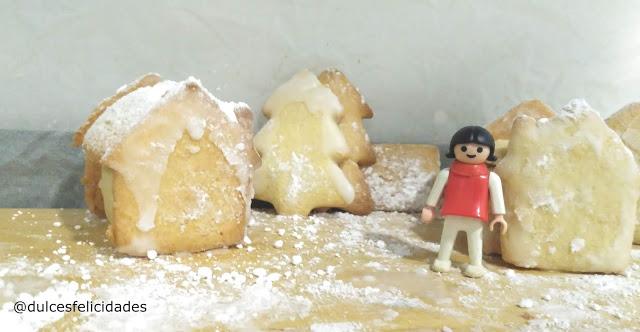 Galletas de mantequilla con harina de espelta. Casas de galletas