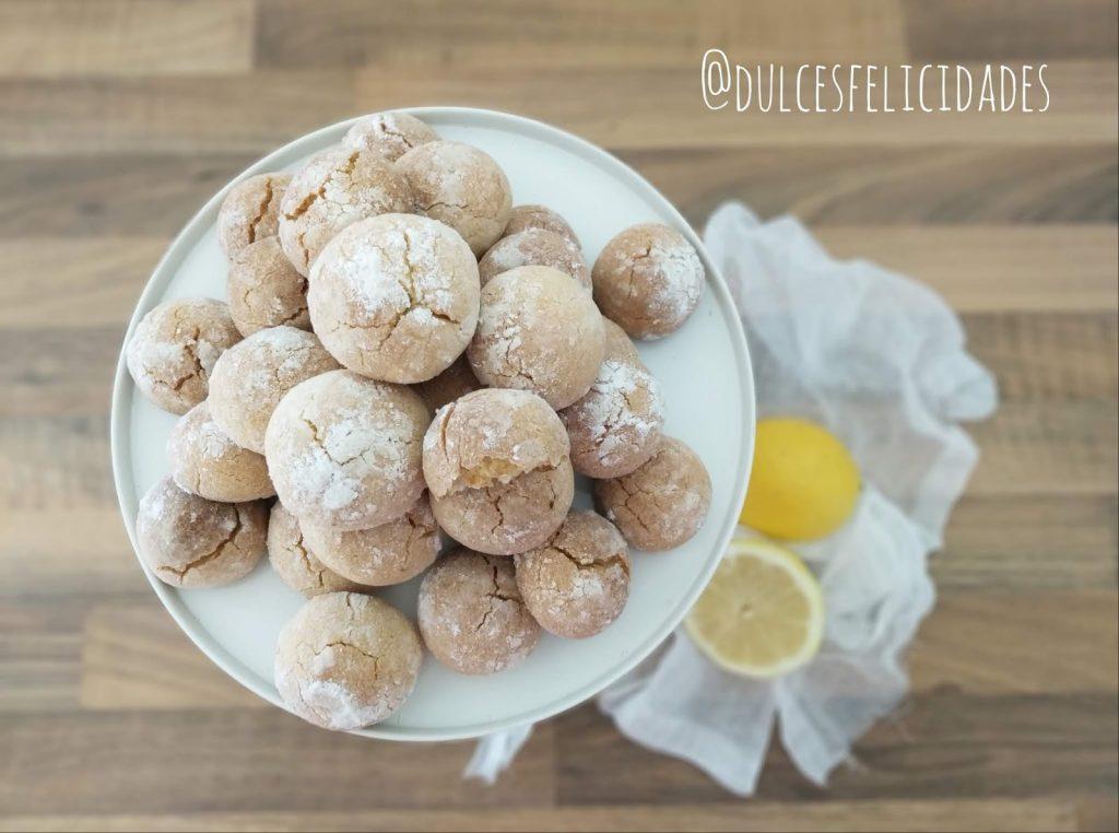 Galletas de limón craqueladas