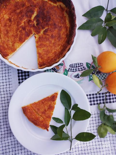 Queijada o quesada de leche (con naranja)