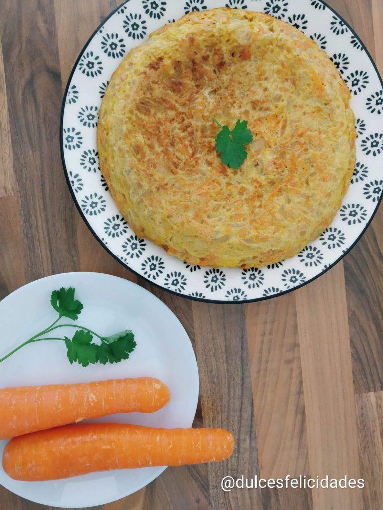 Tortilla de zanahoria, Tortilla de zanahorias, recetas con zanahorias