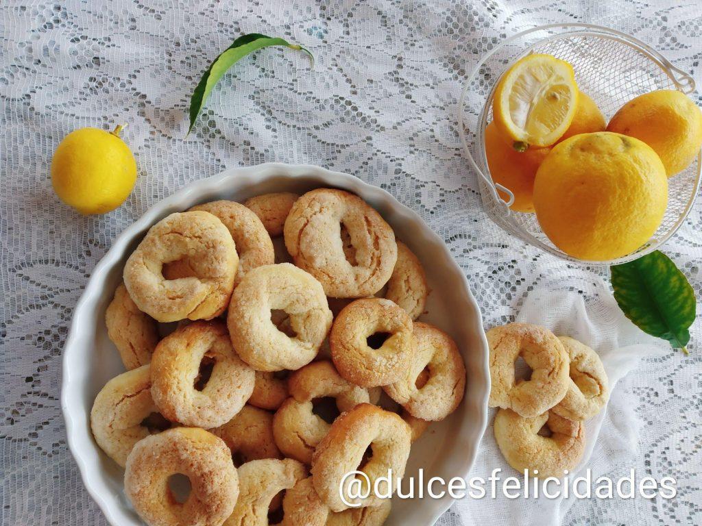 Rollitos de limón, rollets de llima, roscos de limón, rollos de limón