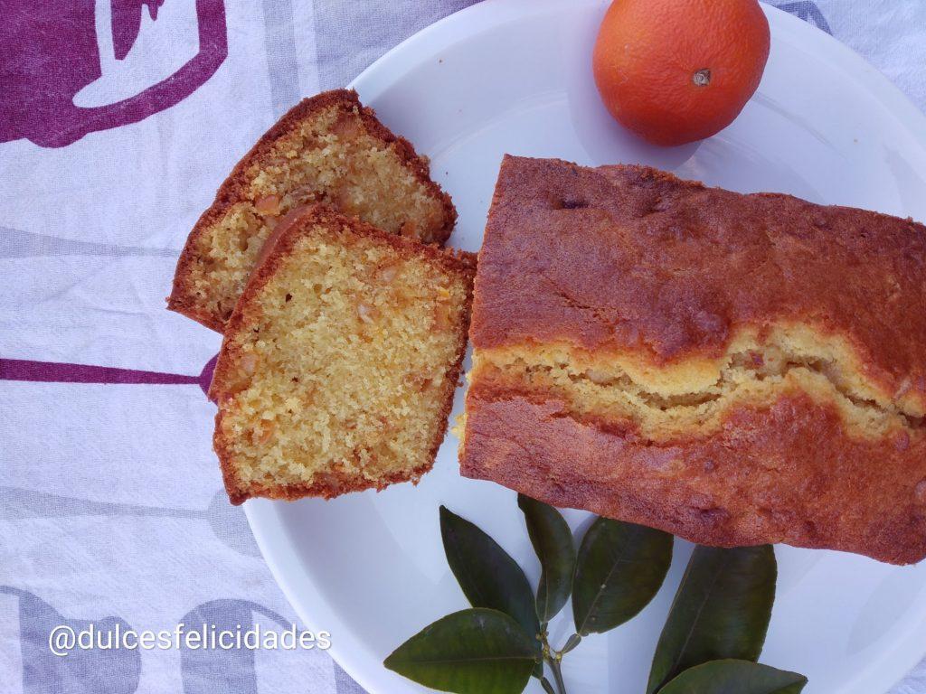 Plumcake de naranja con fruta escarchada Budin ingles de naranja Pastel de frutas de naranja