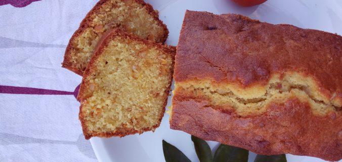 Plumcake de naranja con fruta escarchada budin inglés de naranja Tarta de frutas de naranja