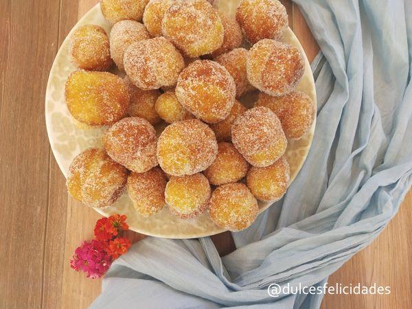 Buñuelos de viento dulce tradicional semana santa cuaresma todos los santos