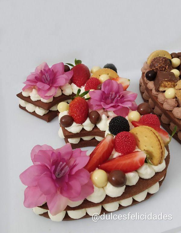 Tarta números Adi Klinghofer con galletas de chocolate Tarta 30 cumpleaños