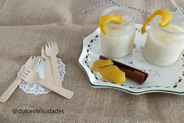 Arroz con leche casero cremoso
