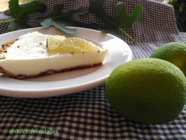 Tarta de lima y yogur sin horno