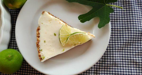 Tarta de yogur y lima sin horno