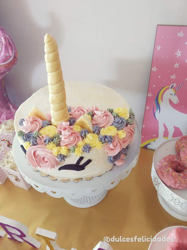Tarta de unicornio sin fondant