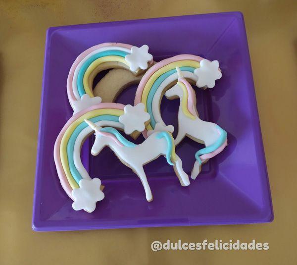 galletas de unicornio de fondant