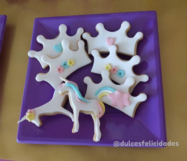 galletas fondant unicornio Cumpleaños de unicornios