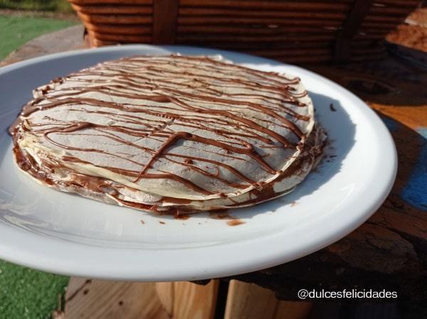 Tarta de crepes y Nutella